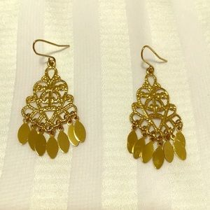 Lane Bryant Gold Finished Swirl Design Earrings.